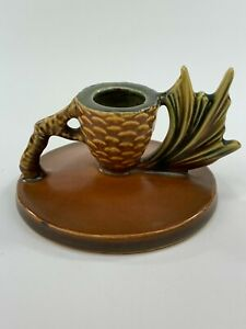 Roseville Pinecone Candle Holders 1123