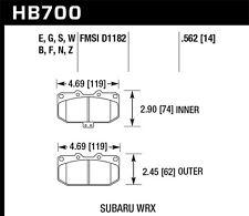 fits 2006-2007 Subaru Impreza  HAWK PERFORMANCE