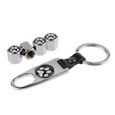 Keychain Tire Valve Stem Cap Tubeless Tire Air Caps dog footprint Logo jS275