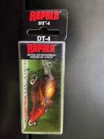 Rapala, DT-4, Long Casting Rattlin' Crankbait, Rusty,  DT04 RUS