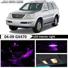 Purple Interior LED Light Bulb Replacement Package Kit Fit Lexus GX470 2003-2009