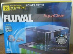 New! Fluval AquaClear 30 Power Filter 10-30 US Gal Aquariums 150GPH (6009)