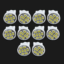 10PCS T10 W5W 194 168 501 White 8 LED Bulb 3020 SMD Car Wedge Side Light Lamp
