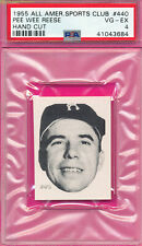 PSA 4 VG-EX GRADED PEE WEE REESE 1955 ALL-AMERICAN SPORTS CLUB HAND CUT CARD 440