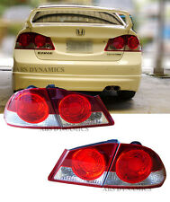 2006 2011 JDM FD1 Honda Civic Sedan Clear Round Style Tail Light 4pc Set DEPO