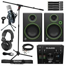 Home Recording Bundle Air192X4 Audio Usb Interface w Cr3 Studio Monitor Speakers