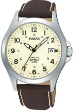 Pulsar Gents Kinetic Leather Strap Watch PAR167X1-NEW