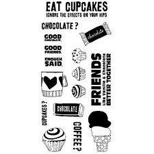 Inkadinkado Eat Cupcakes Clear Stamp Set, craft, scrapbook, cards, Stamping