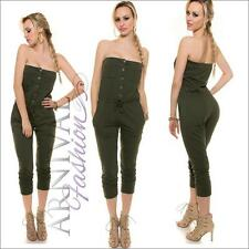 SEXY Women LONG OVERALL 8 10 12 JUMPSUIT PANTS SLEEVELESS TOP ROMPER playsuit AU