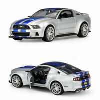 1/24 Ford Mustang Street Racer 2014 Model Car Diecast Vehicle Collection Silver