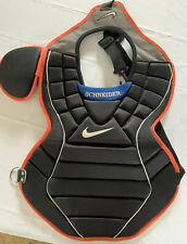 """Brian Schneider """"Game-Used"""" New York Mets Nike Chest Protector w/COA"""