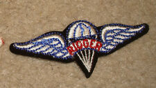ARMY PATCH,PRE 1983 RIGGER WINGS, PATCH, 3.5 INCHES, CUT EDGE
