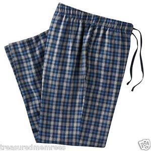 Croft & Barrow Pajama Bottoms Lounge Pants Sleepwear ~ Blue & Grey Plaid