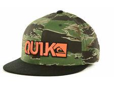 New Quiksilver Blocked Flex Fit Hat Cap Camo