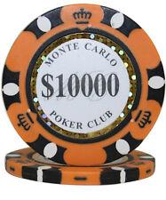 50pcs 14g Monte Carlo Poker Club Casino Poker Chips $10000