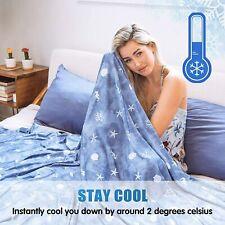 Cooling Blanket For Sleeping Bed Summer Promote Deep Sleep Icy-Jade Cold Fiber