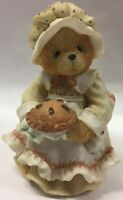 "Vtg Bear Figurine ""HAPPINESS IS HOMEMADE"" Priscilla Hillman PATIENCE Enesco 1994"
