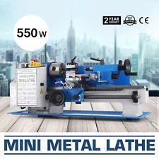 """Mini Tornio In Metallo 550W 7x12"""" 2250 RPM Inverter Lavorazione Locità Variabile"""