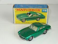 (NB Matchbox lesney FERRARI BERLINETTA - 75 rare silver painted base F Box