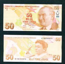 More details for turkey - 2009 (2017 signatures) 50 lira unc banknote