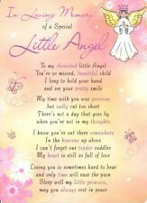 💔Grave Card IN LOVING MEMORY OF A SPECIAL LITTLE ANGEL Verse Memorial Funeral💔