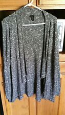 maurices brand womens plus size 3 x shrug  cardigan black white sweater guc