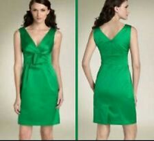 NWOT $310 NANETTE LEPORE Green Pleated Front Sleeveless Cocktail Dress Sz 2