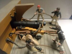 William Britain Rare Battle of Waterloo ships crew firing cannon