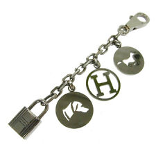 Authentic HERMES Vintage H Logos Key Holder Bag Charm Accessories NR10793b