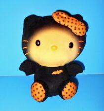 "Black Orange Hello Kitty in Bat Costume TY Beanie Baby Plush Stuffed Toy 2014 6"""
