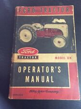 Original Ford Tractor Model 8N Operator Manual 1952 Operators Guide Book Farm