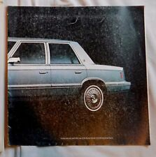 Vintage 1981 PLYMOUTH RELIANT  Car Brochure