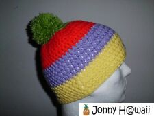 JONNY HAWAII elegante Crochet cap Caniche Gorra hecho a mano Rayas anchas verde