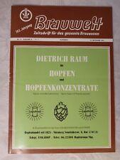 alte Zeitschrift Brauwelt Brauerei Brauwesen 10. September 1963