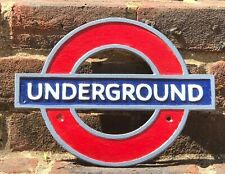 More details for underground london tube network cast iron reproduction sign plaque