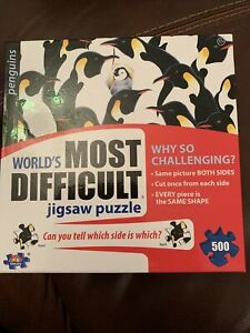 Worlds Most Difficult Jigsaw Puzzle Both Sides Penquins Double Sided 500 Pieces
