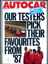 Autocar Magazine 30 December 1987 Testers Pick Favourites From '87 EX 121915jhe