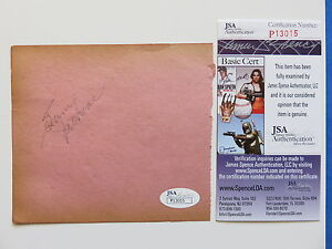 SAM JETHROE SIGNED 4.5 x 5 PAPER CUT AUTOGRAPH ~ JSA# 13015 ~ BRAVES