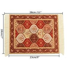 11x7'' Vintage Persian Styles Rug Mouse Pad Carpet Mousemat With Tassel Decor