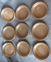 9er Set WMF Untersetzer f. Gläser silber farben Dekor 40-50er Jahre antik