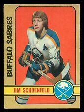 1972 73 OPC O PEE CHEE #220 JIM SCHOENFELD VG-EX RC BUFFALO SABRES HOCKEY ROOKIE