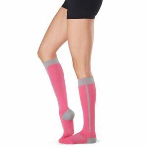 New TOESOX Womens ZOE Full Toe KNEE HIGH Sport Compression Socks (FLUSH) Small
