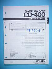 INSTRUCCIONES MANUAL DE SERVICIO PARA YAMAHA cd-400, original