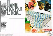 Publicité advertising 1984 (2 pages) Sous Vetements slip homme Eminence