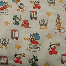 Baby cotton knit fabric Vtg 80s Mickey Mouse by Peter Pan