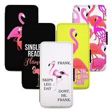 Funny Flamingo Birds Flip Phone Case Cover Wallet - Fits Samsung S8 S9 S10 Note