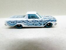 Hot wheels 65 Ford Ranchero Truck White with Flames 2010 Malaysia