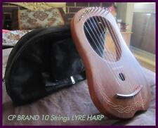 CP BRAND NEW 10 STRINGS LYRE HARP FREE CARRY BAG & SHIP. TOP QUALITY