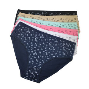 PLUS SIZE Ladies Knickers Women Underwear Cotton Floral Sexy Panties 3/6/12 Pack