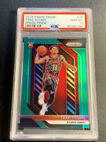 TRAE YOUNG 2018 PANINI PRIZM #78 GREEN REFRACTOR ROOKIE RC PSA 10